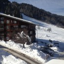 View of piste from living room window