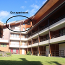 View of apartment in block