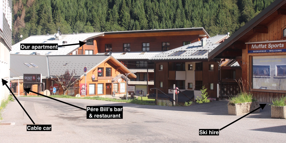 View of apartment from nearest ski lift